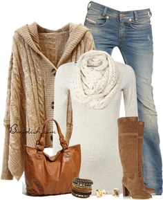 Hooded Oversize Cardigan Casual Fall Outfit ...