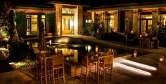 """Bardessono: hosts a monthly summer """"Dive Bar"""" where if you buy a drink you can stay and swim (Yountville)"""