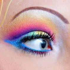 Mac Eye Makeup Designs   Topic: Super Bright Eye Makeup Look (Products used listed, Lots of ...