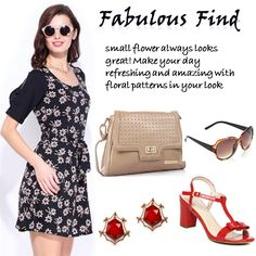 Fabulous Find > http://faborskip.com/post/105594030280/fabulous-find-small-flower-always-looks-great   small flower always looks great! Make your day refreshing and amazing with floral patterns in your look