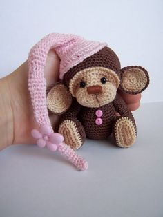 Crochet Thread Artist Monkey by Benesak / Teddy Bears & Pals / Teddy Talk: Creating, Collecting, Connecting: