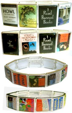 this bracelet would make a fun conversation for banned book week