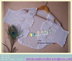 Bolero con detalles de piñas… | Mi Rincon de Crochet