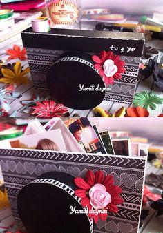 Cámara de fotos hecho de papel scrapbook (inspiración yamili daynai)