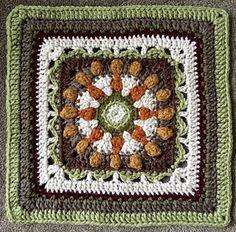 Free crochet pattern: Cha cha-cha square by Sadie Cummings