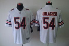 Nike Bears #54 Brian Urlacher White Men's Embroidered NFL Limited Jersey!$24.50USD Jerseys Nfl, Jersey Nike, Chicago Bears, White Man, White Nikes, Cheap Nike, Sports, Nike Nfl, China