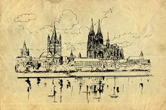 'Ansicht auf gut Kölsch' von Dirk h. Wendt bei artflakes.com als Poster oder Kunstdruck $19.41