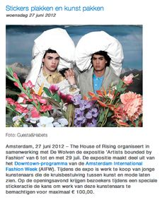 "Verkoopexpositie ""Artists bounded by Fashion"" --> Liselotte Habets"