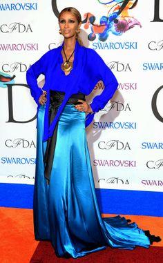 CFDA Awards: (WORST) Iman in Juan Carlos Obando