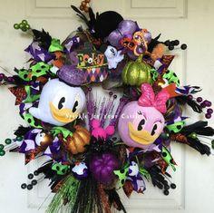 Donald Daisy Duck Halloween Wreath Tokyo by SparkleForYourCastle