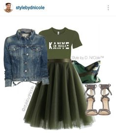 A fashion look from March 2016 featuring rag & bone/JEAN jackets, Chicwish skirts e Gianvito Rossi sandals. Browse and shop related looks. Classy Outfits, Chic Outfits, Fall Outfits, Fashion Outfits, Womens Fashion, Fashion Trends, Cute Fashion, Look Fashion, Autumn Fashion