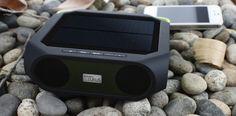 Eton Rukus Solar Powered Wireless Bluetooth Speaker. Looks good, sounds good, makes you feel good!