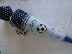 Schultüten - Schultüte Fußball incl.Rohling gestickt - ein Designerstück von BunteNaehstube bei DaWanda