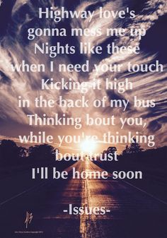 Issues Home soon lyrics Headspace