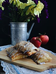 Living the Gourmet: Brown Butter Brandy Apple Hand Pies | Brown butter and brandy are tossed with crisp apples for a sophisticated fall treat. My favorite kind of dessert is one that I can enjoy for breakfast the next day. Take for instance, these apple hand pies. Now if you have ever taken a gander at my Instagram page you may noticed the recurring theme...Read More »