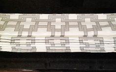 Custom Roman Shade Window Treatment in Gray by DrawnCompany, $99.00