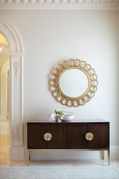 Taking inspiration from glamorous French designs of the and the Jet Set Sideboard by Bernhardt Furniture will lend understated elegance to any room's decor! Finished in a rich Caviar with Luxury Furniture, Sideboard Furniture, Interior Design, Bernhardt Furniture, House Interior, Furniture Design, Interior, Home Decor, Furniture