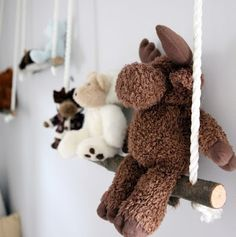 Swing shelves. So Cute. Kids room...