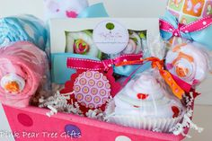 COMPLETE Baby Girl Baby Shower Gift Basket by PinkPearTreeGifts