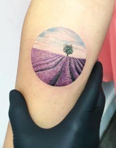 Lavender Field Tattoo