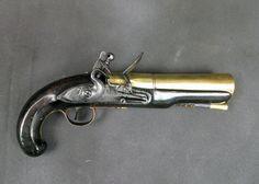 British Henry Nock Flintlock Naval Blunderbuss Pistol ima-usa.com