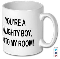 New product 'Naughty Boy Printed Mug' added to East Yorkshire Gifts! - £6.99