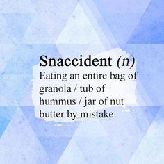 If you've fallen victim to the snaccident, know you're not alone. (via @mindbodygreen)