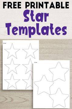 These free printable star templates are SO helpful! Star outlines from 1 inch all the way up to an extra large star that's 12 inches! Star Template Printable, Circle Template, Leaf Template, Free Printables, Flower Template, Owl Templates, Crown Template, Applique Templates, Applique Patterns