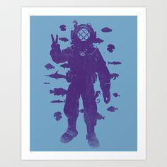 peace under water Art Print by Jonah Block