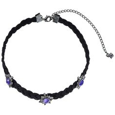 Rebecca Minkoff Rock N Roll Charms on Braided Leather Choker Necklace... ($53) ❤ liked on Polyvore featuring jewelry, necklaces, choker necklace, braided leather necklace, gunmetal chain necklace, pendant choker necklace and chain necklaces