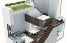 treppen weiß innendesign couch