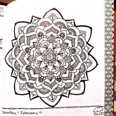 Jan 30 - Feb 5 - Mandala BuJo Closeup #kitskorner #bulletjournal #bujo #planner #traveljournal #mandalajournal #omnijournal #doodlejournal #zenjournal #closeup #mandala #mandalas #mandalalove #mandaladesign #mandaladoodle #zendala #zendalas #zendoodles #freehand#meandmyinkpen #instadiary #doodles #pilot #papermate #midori #blackandwhite