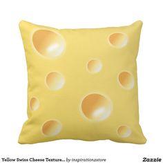 Yellow Swiss Cheese Texture Cushion / Pillow