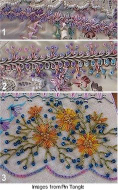 I ❤ crazy quilting . . . beautiful embroidery & ribbonwork- by Sharon Boggon