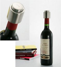 FREE Stainless Steel Vacuum Wine Stopper/Saver