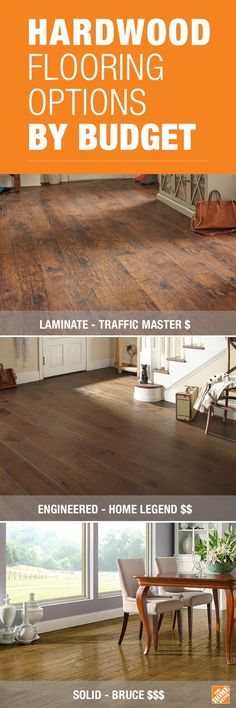 No matter your budget, with today's flooring you have several good options. Th…  No matter your budget, with today's flooring you have several good options. The new types of laminate flooring give you an authentic wood look that's very affordable. Engineered hardwood costs a little more, bu...