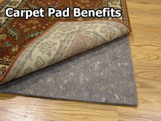 Carpet padding can make a room warmer by providing another layer of insulation.