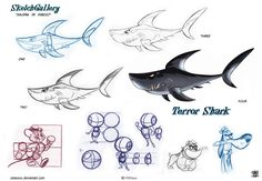 Terror shark cartoon by celaoxxx
