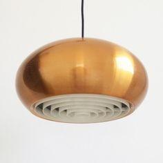 Located using retrostart.com > Medio Hanging Lamp by Jo Hammerborg for Fog and Mørup