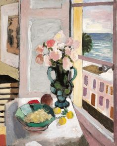 Henri Matisse - Safrano Roses at the Window, 1925, oil on canvas, 80x65cm.