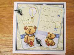 Birthday card for a first Birthday. I Card, First Birthdays, Birthday Cards, Card Making, Cover, Frame, Books, Decor, Bday Cards