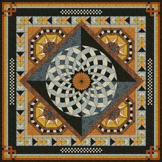 This is an italian tile floor but I think it would make a wonderful quilt design