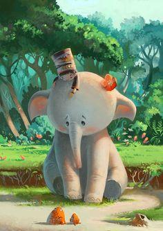 Schattige olifantje