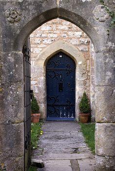 Tudor rose door