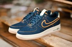 """Nike Air Force 1 Denims""  Must have...now."