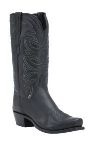 Lucchese 1883 Men's Black Ranch Hand Goat 7-Toe Narrow Punchy Toe Western Boots | Cavender's