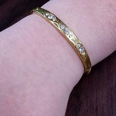 Gold CZ Bracelet Gorgeous gold tinted metal bracelet with CZ Jewelry Bracelets