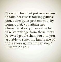 just because i am quiet .. doesn't mean I don't have anything to say or an opinion.