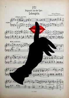 ★ Fiery Red ★ Haberiniz olsun, orijinal sanat eserleri, karışık medya, baskı, poster, müzik via: via: