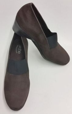 dc761ca31513e Arche Shoes Slip-On Wedge Heels Brown France Womens Size 6 US 37 EUR